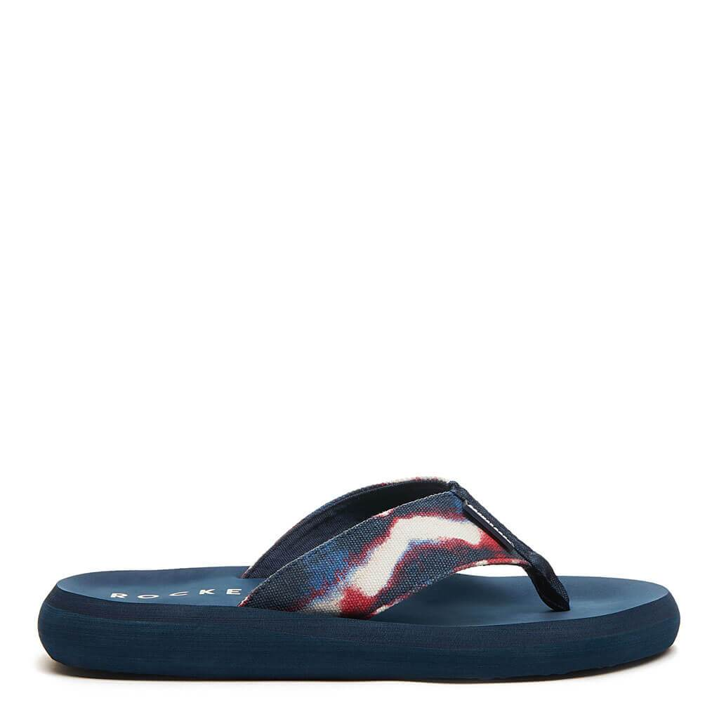 Spotlight Red Blue Tie Dye Flip Flop. Shop Women's Sneakers