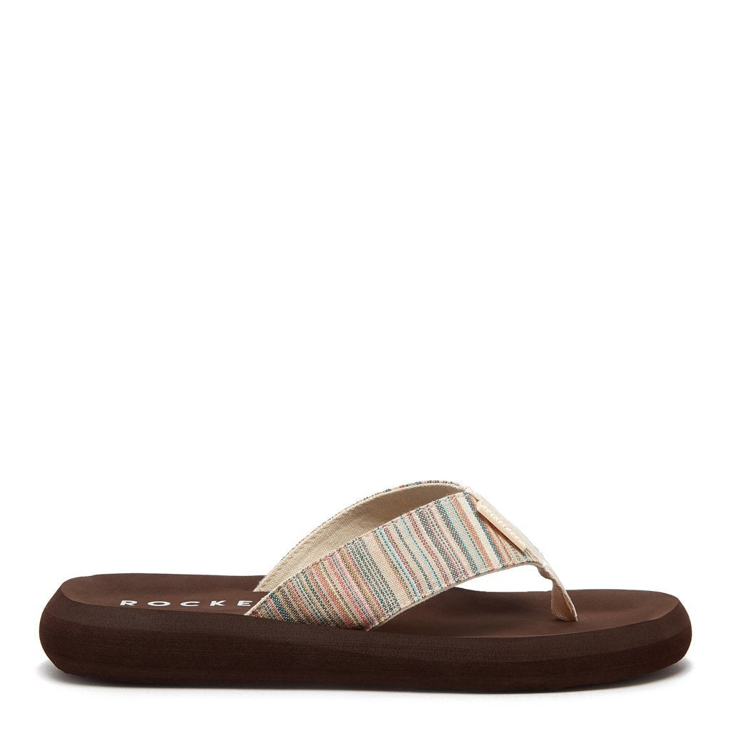 Spotlight Multicolor Brown Flip Flop