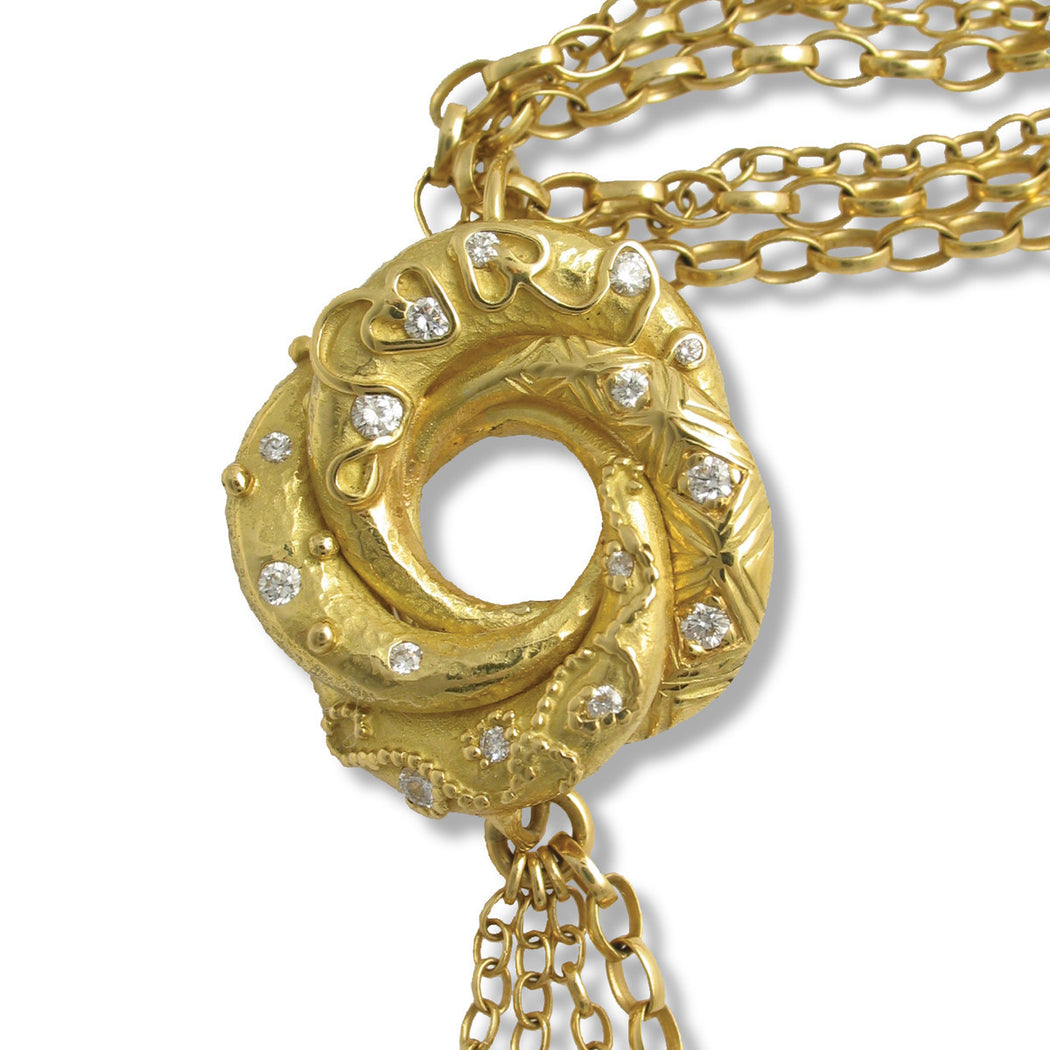 18ct Gold Algerian Love Knot Necklace