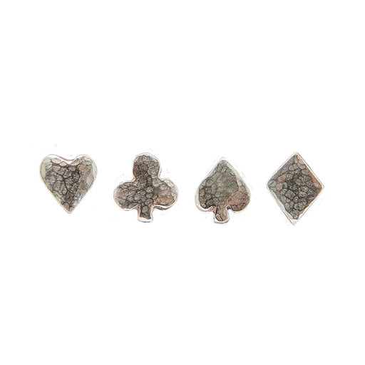 4 Suit Tiny Stud Earrings