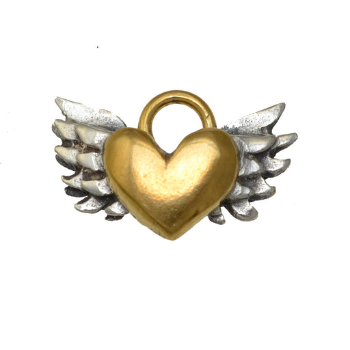 Chubby Winged Heart Charm