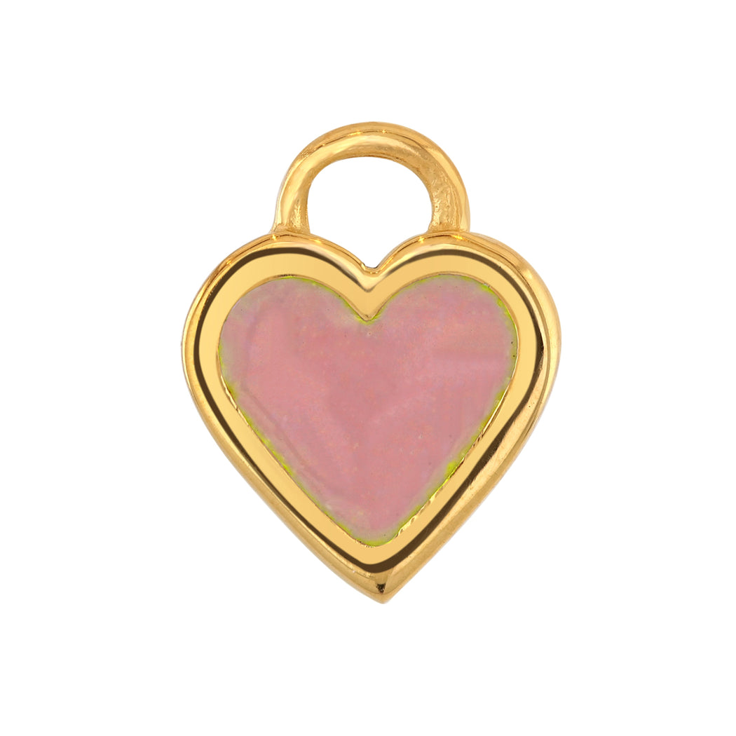 Large Classic Pink Enamel Charm