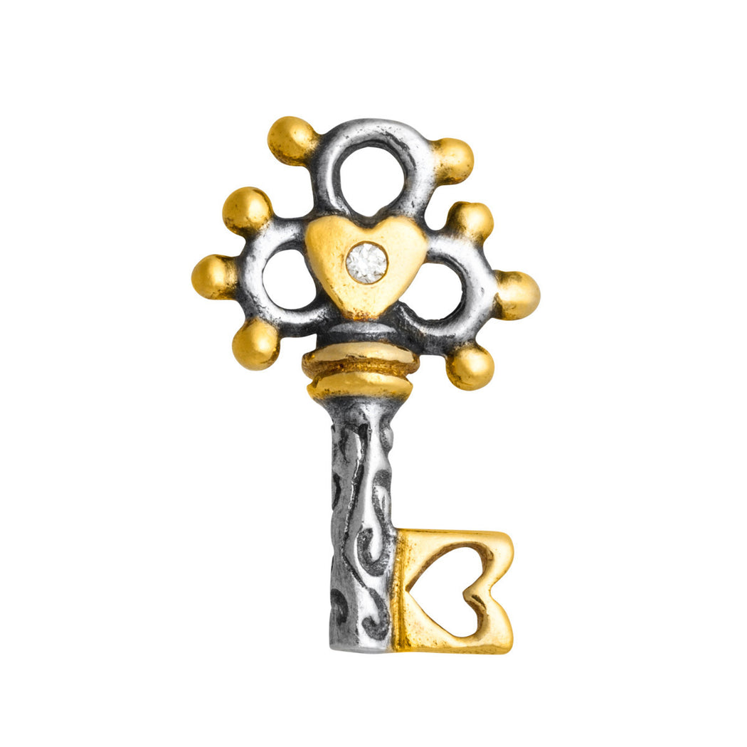 Diamond Renaissance Key Charm
