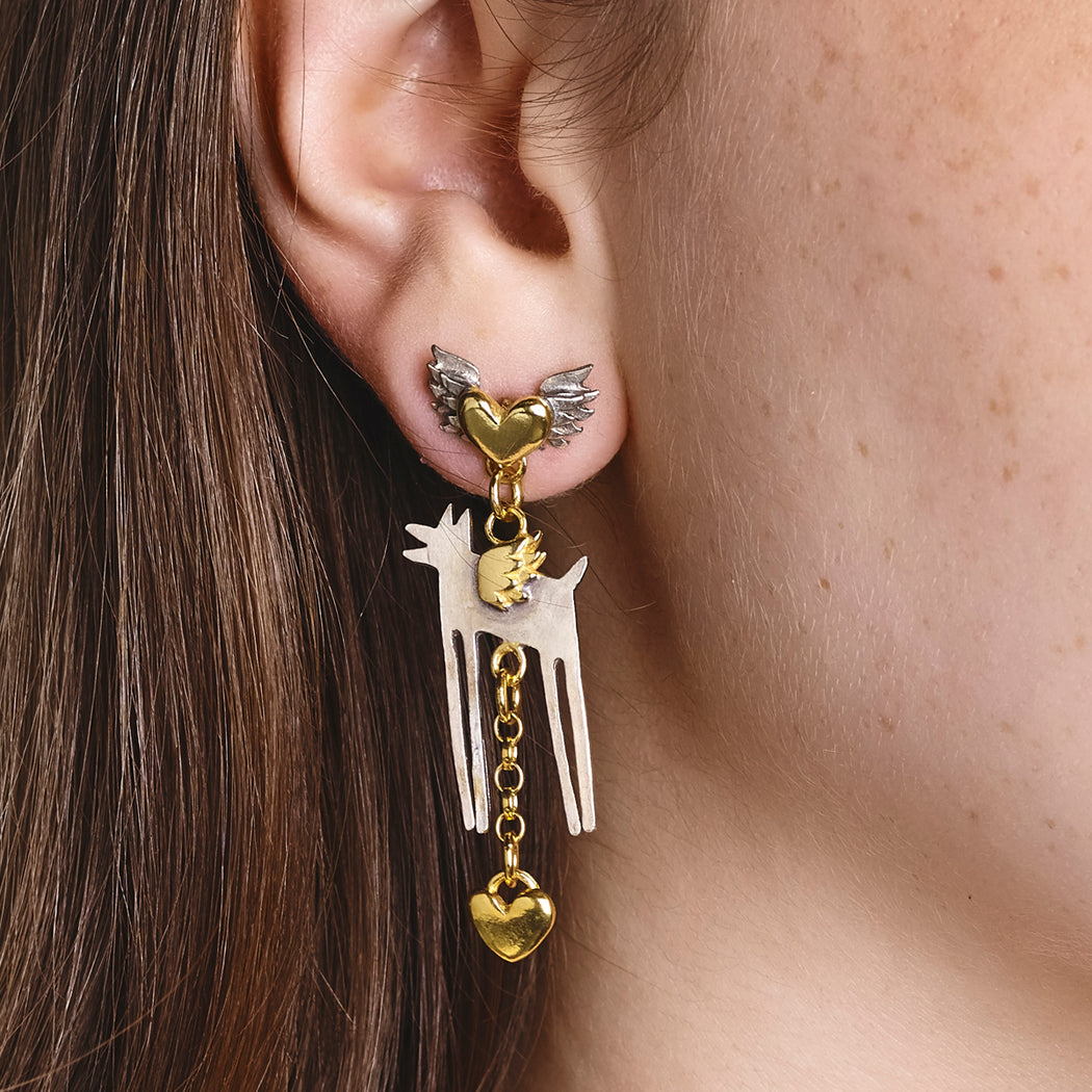 Love Wolf Earrings