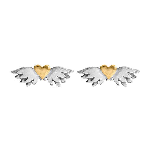 Classic Winged Heart Earrings