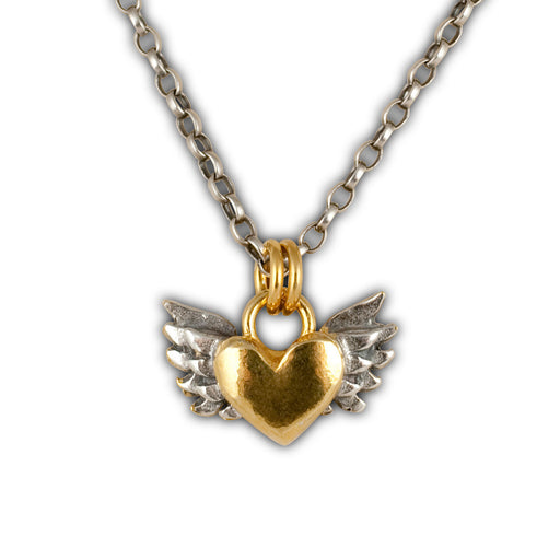 Chubby Winged Heart Necklace