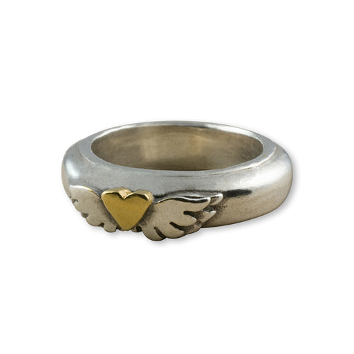 Classic Winged Heart Ring