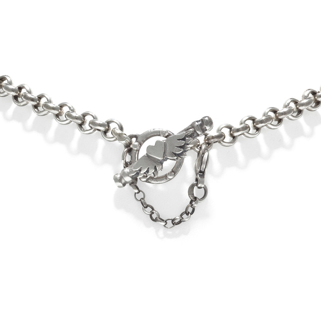 Padua Heart Cross Necklace
