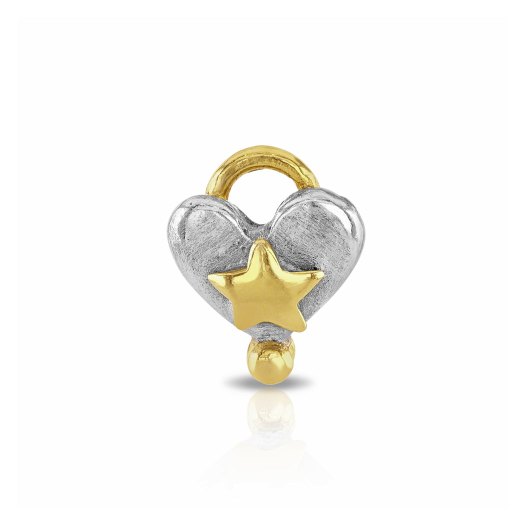 Chubby Heart With Layered Star Charm
