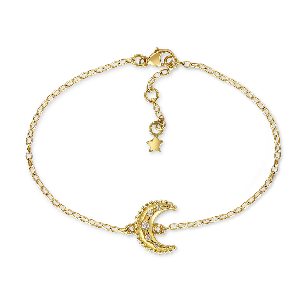 Gold & Diamond Luna Bracelet