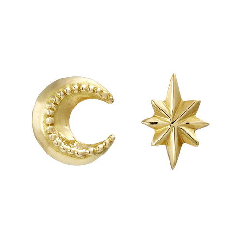 Mini Moon & Star Stud Earrings