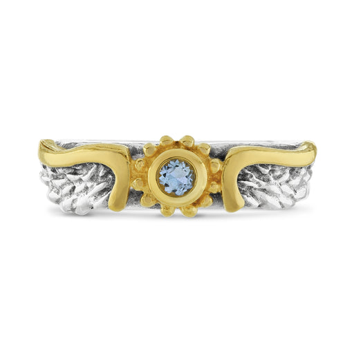 Aquamarine Venetian Wing Ring