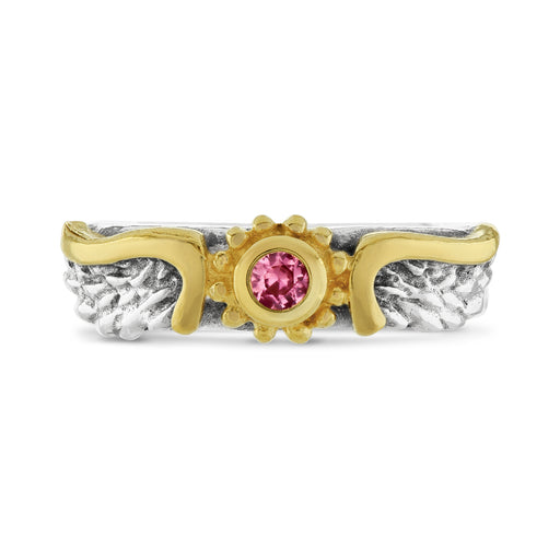 Pink Sapphire Venetian Wing Ring