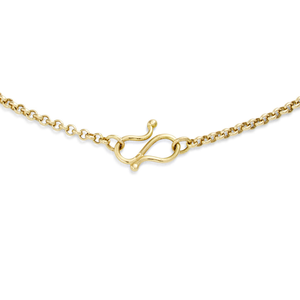 Gold & Diamond Luna Drop Necklace