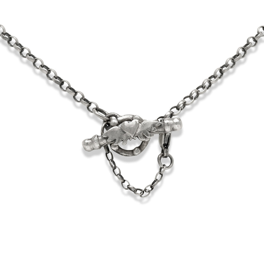 Loveknot Triple Drop Necklace