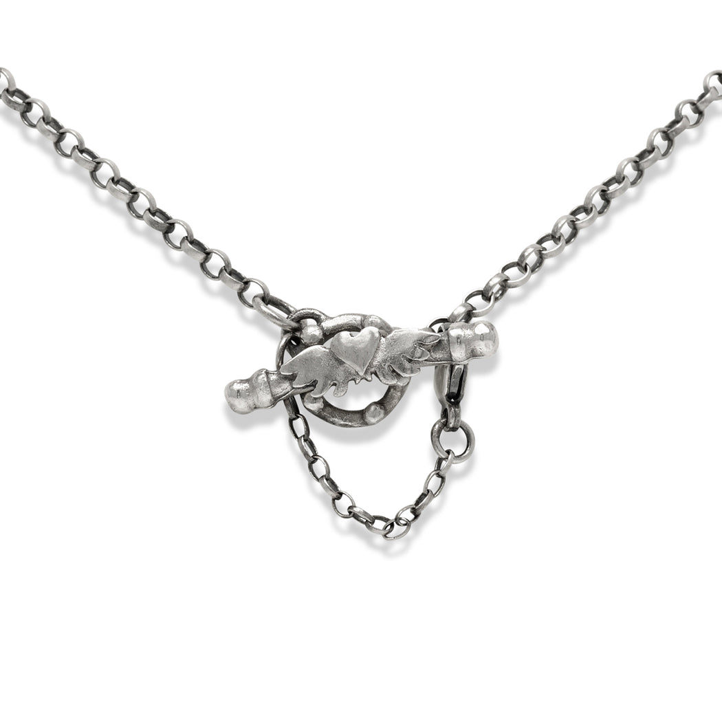 Paloma Heart Drop Necklace