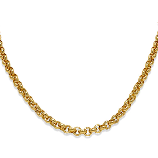Gold Plated Heavy Round Belcher Necklace