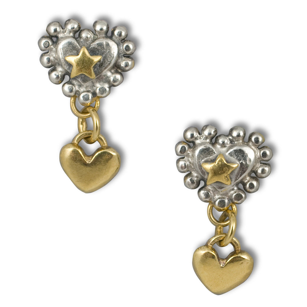 Halo Heart Drop Earrings