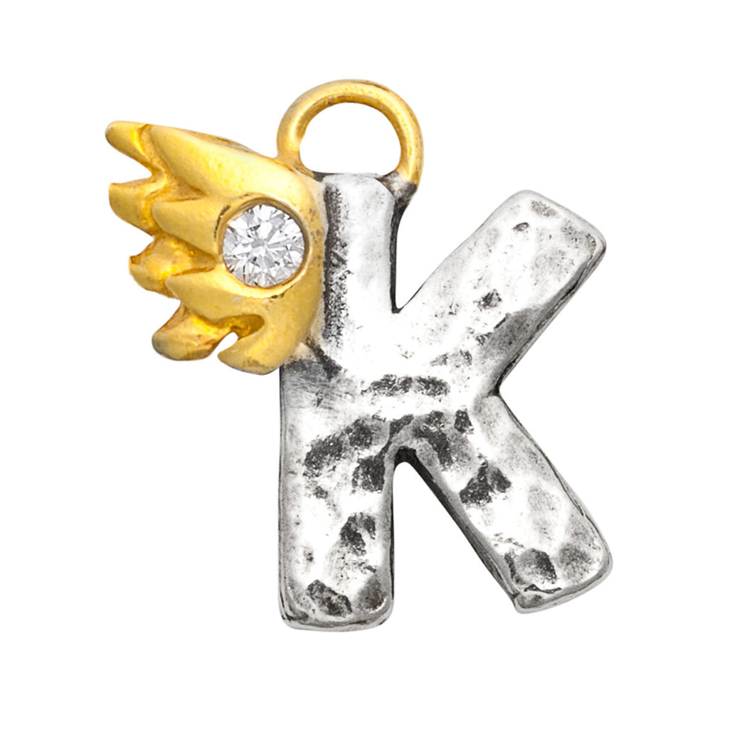 K With Diamond Charm