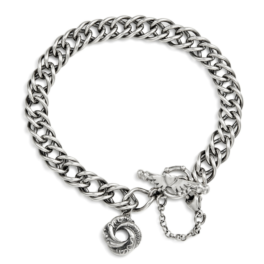 Mini Loveknot Double French Curb Bracelet