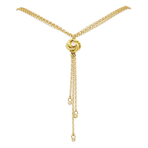 Gold Mini Loveknot Necklace