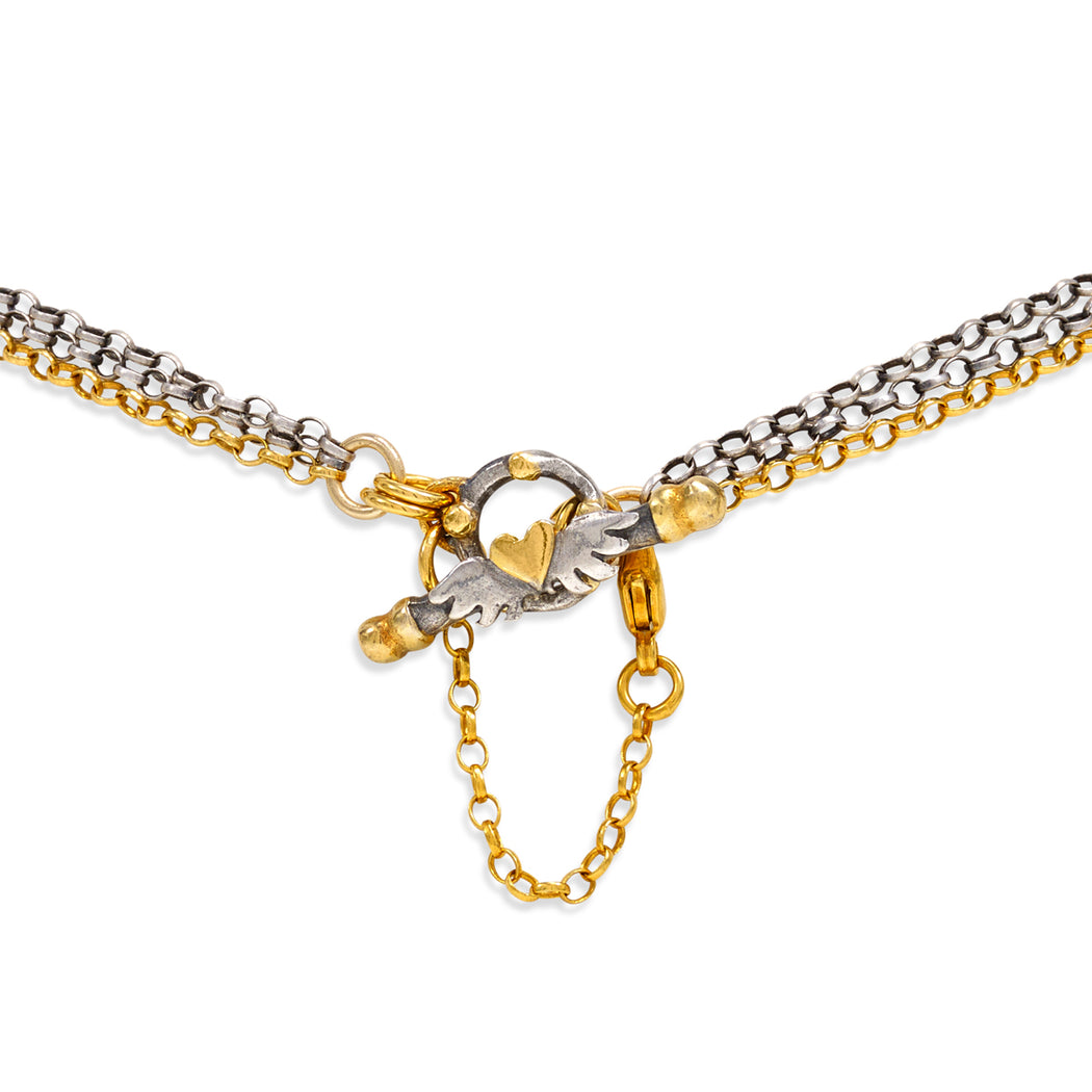 Diamond Set Mini Loveknot Necklace