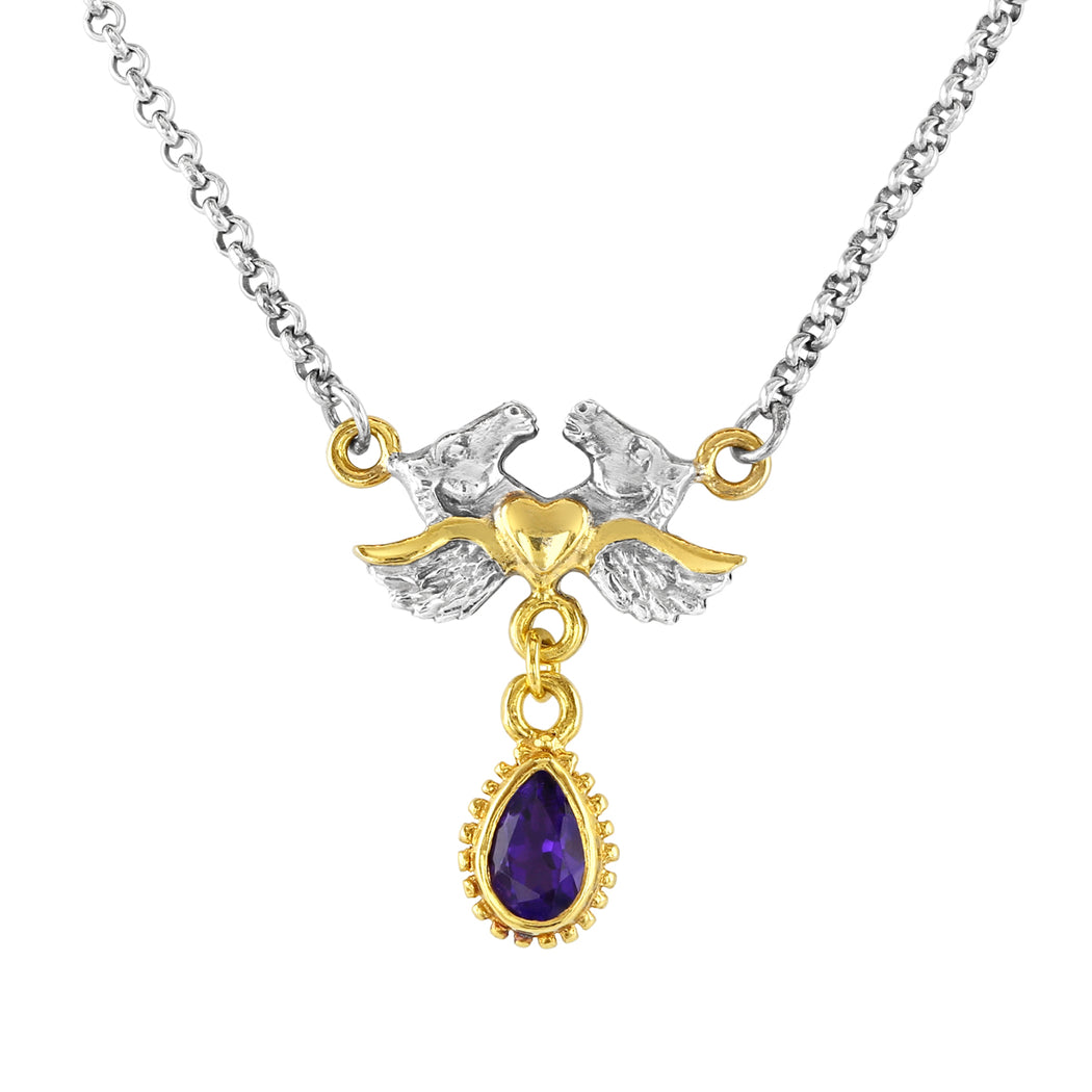 Adelphi Necklace with Amethyst
