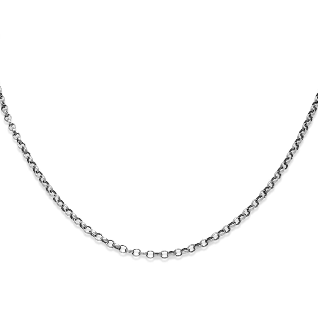 Fine Oval Belcher Chain Necklace