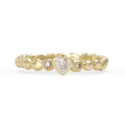 Heart Shaped Diamond Tutti Frutti Ring