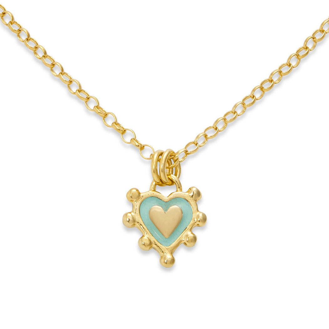 Turquoise Sacred Heart Necklace