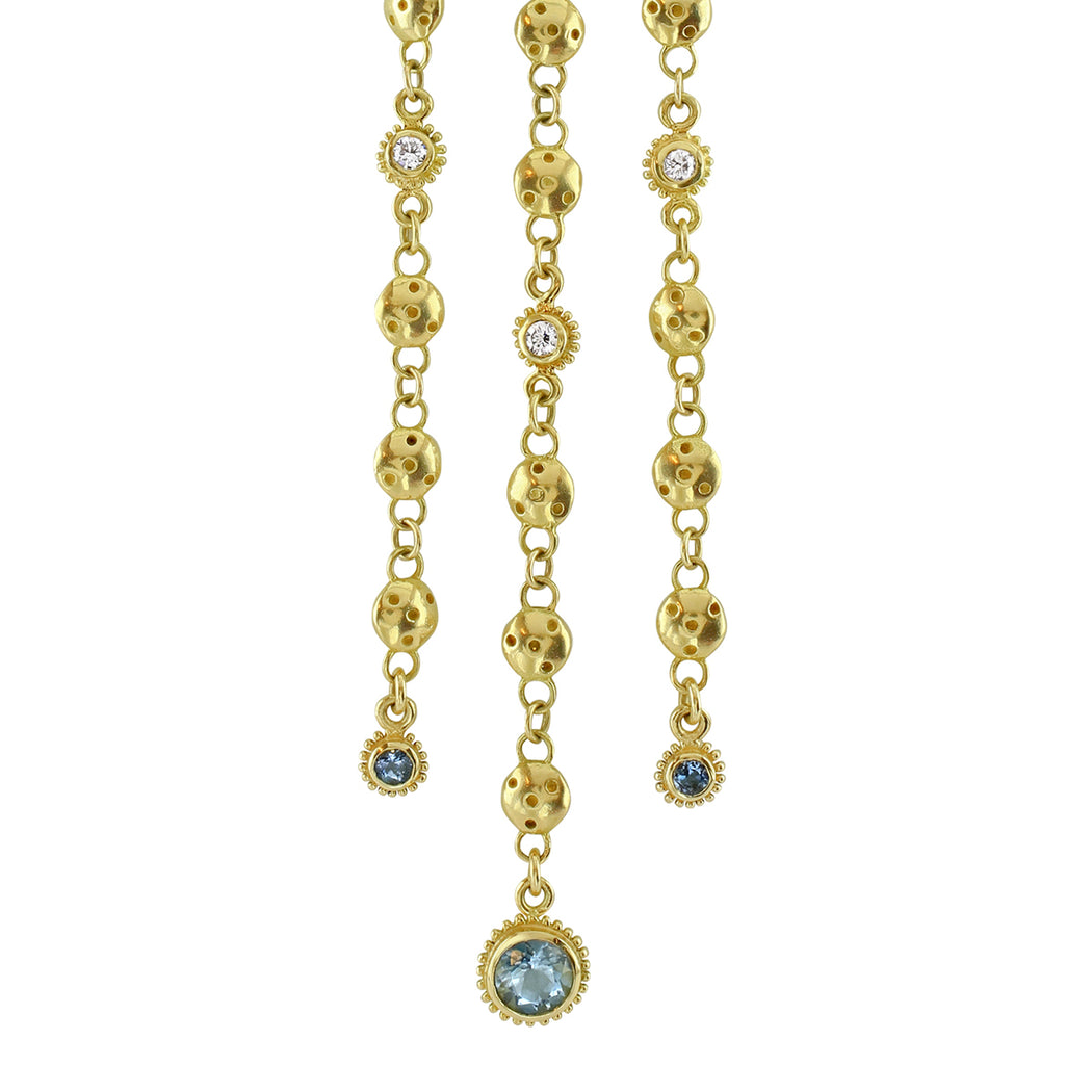 Aquamarine & Diamond Sophie Necklace