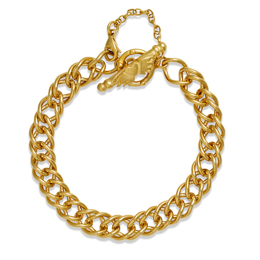 Gold Plated Double French Curb Bracelet