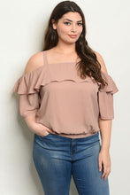 Taupe Top (Plus Size)