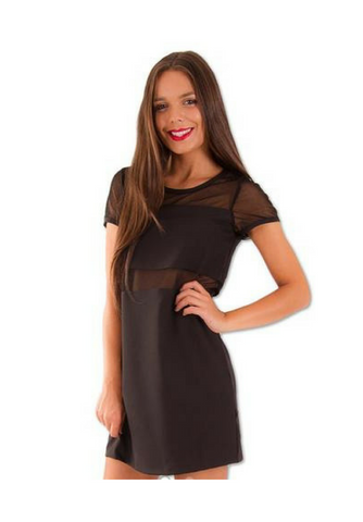 Amelia Sheer Mesh T-Shirt Dress - My Bargains Boutique