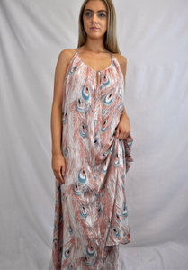 Peacock Maxi Dress - My Bargains Boutique