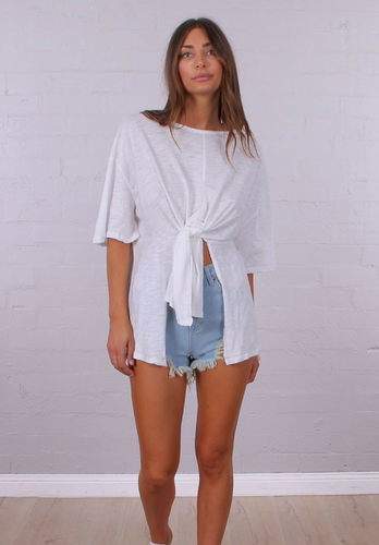 Stevie Tee - White - My Bargains Boutique
