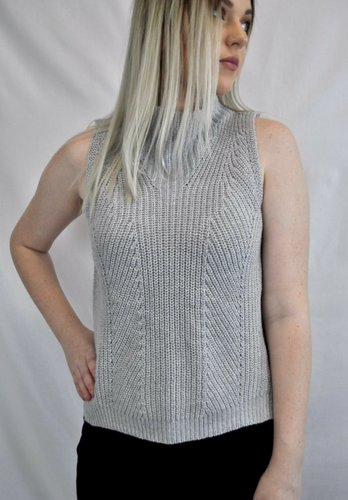 Silvia Sleeveless Knit - My Bargains Boutique