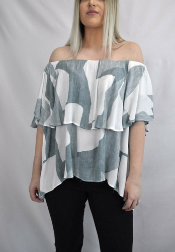 Geo OTS Top - My Bargains Boutique
