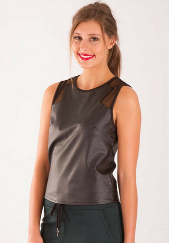 Naomi Leatherette Tank - My Bargains Boutique