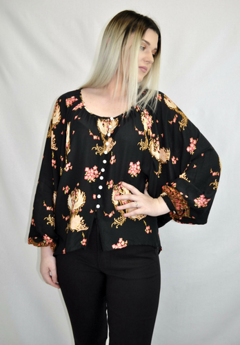 Blossom Flow Top - My Bargains Boutique