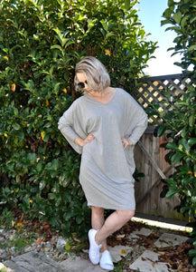Miracle Dress (3/4 Sleeves) - Grey - My Bargains Boutique