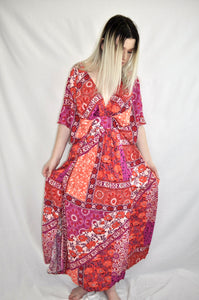 Autumn Flower Maxi Dress - My Bargains Boutique
