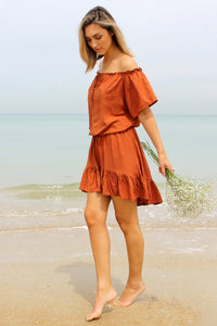 Savannah Top - Rust - My Bargains Boutique