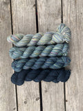 Crochet Fade Wrap | EASTON SHAWL  By TL Yarn Crafts Yarn PACK colour TEAL BLUE