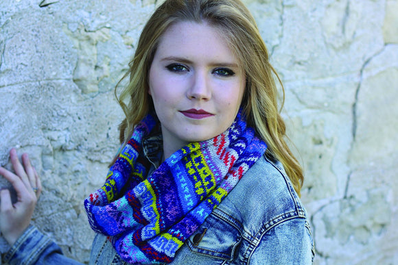 Kaleidoscope Fair Isle Cowl kit - KPM