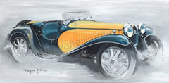 CP159 - Blue and yellow Bugatti