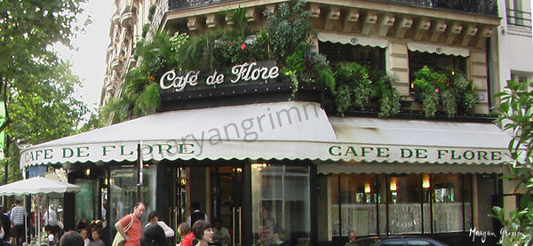 """Cafe de Flore"", Paris, France - Ref: 843"