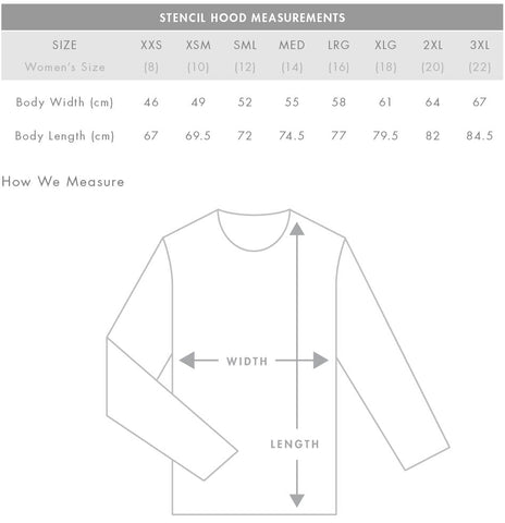Stencil Hood Measurements