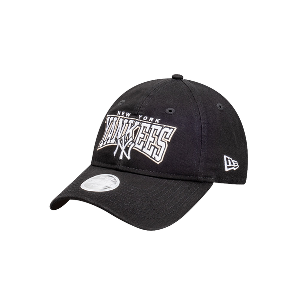 New Era 9Forty Womens Clothstrap New York Yankees Black Script