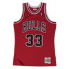 Mitchell and Ness Swingman Jersey Chicago Bulls Scottie Pippen 33 97-98 Red